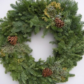 Mixed Noble Christmas Wreath