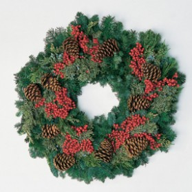 Canella and Cones Christmas Wreath