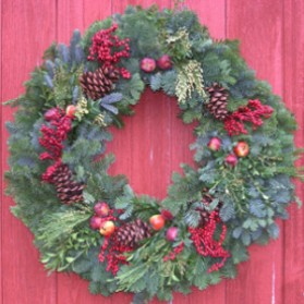 Fruit and Fir Christmas Wreath