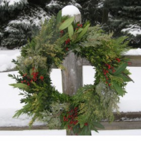 Mackinaw Christmas Wreath