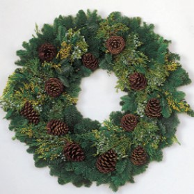 Multicone Deluxe Christmas Wreath